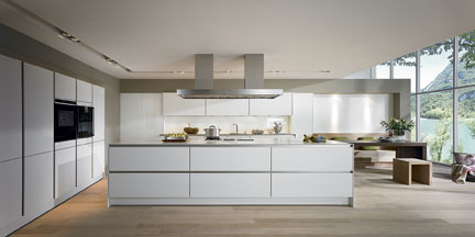 modern kitchen cabinet without handle. Sophisticated, Streamlined Design Of SieMatic S2 Kitchen, Here In Lotus White Modern Kitchen Cabinet Without Handle H