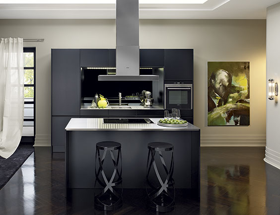 Siematic press release siematic unveils new and redesigned kitchens along wi - Cuisine noir mat ikea ...